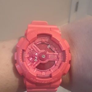BRAND NEW IN A BOX G-SHOCK RED WATCH.